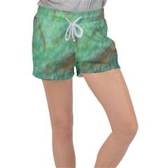 True Turquoise Velour Lounge Shorts