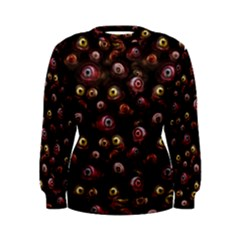 Zombie Eyes Pattern Women s Sweatshirt by SpinnyChairDesigns