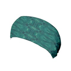 Teal Ikat Pattern Yoga Headband