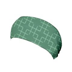 Dark Mint Green Geometric Yoga Headband by SpinnyChairDesigns