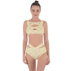 Gold Stars Pattern Bandaged Up Bikini Set  by SpinnyChairDesigns
