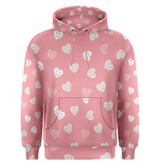 Cute Pink And White Hearts Men s Core Hoodie