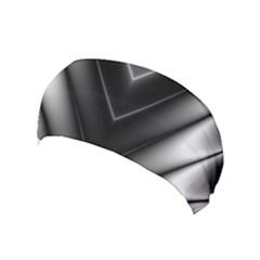Black And Silver Pattern Yoga Headband by SpinnyChairDesigns