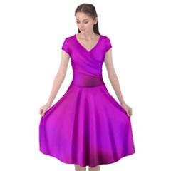 Fun Fuschia Cap Sleeve Wrap Front Dress by Janetaudreywilson