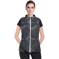 Black Tourmaline Stone Geometric Pattern Women s Puffer Vest by SpinnyChairDesigns