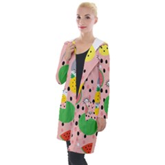 Cats And Fruits  Hooded Pocket Cardigan by Sobalvarro