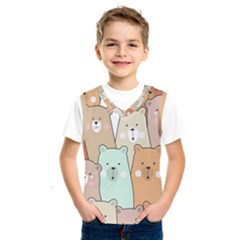Colorful-baby-bear-cartoon-seamless-pattern Kids  Sportswear