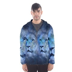 Astrology Zodiac Lion Men s Hooded Windbreaker