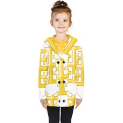 Arms Of The Kingdom Of Jerusalem Kids  Double Breasted Button Coat by abbeyz71