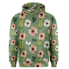 Flower Green Pink Pattern Floral Men s Core Hoodie