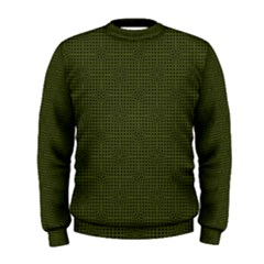Army Green Color Polka Dots Men s Sweatshirt