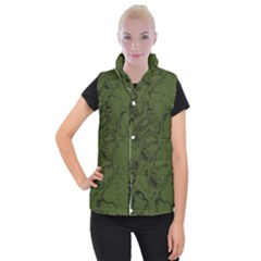Amy Green Color Grunge Women s Button Up Vest by SpinnyChairDesigns