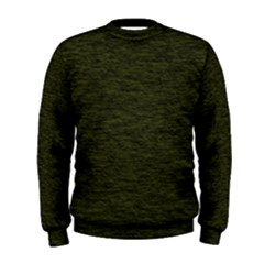 Army Green Color Textured Men s Sweatshirt
