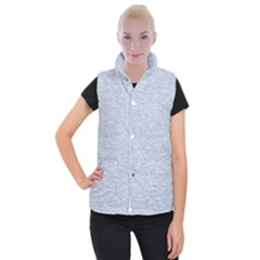 Fade Pale Blue Texture Women s Button Up Vest by SpinnyChairDesigns