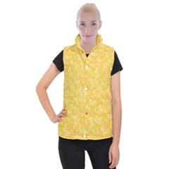 Saffron Yellow Butterflies Batik Women s Button Up Vest by SpinnyChairDesigns