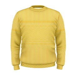 Saffron Yellow Color Stripes Men s Sweatshirt