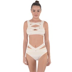 Boho Lemon Chiffon Pattern Bandaged Up Bikini Set