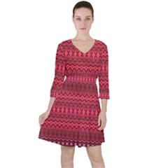 Boho Bittersweet Pink  Ruffle Dress by SpinnyChairDesigns