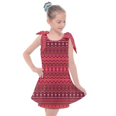 Boho Bittersweet Pink  Kids  Tie Up Tunic Dress by SpinnyChairDesigns