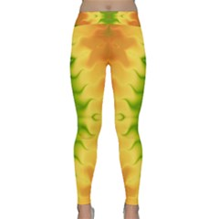 Lemon Lime Tie Dye Classic Yoga Leggings by SpinnyChairDesigns