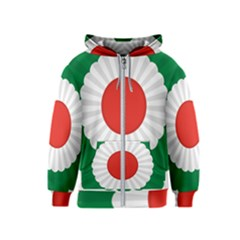 National Cockade Of Iran  Kids  Zipper Hoodie