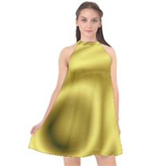 Golden Wave 2 Halter Neckline Chiffon Dress  by Sabelacarlos