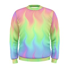 Pastel Rainbow Flame Ombre Men s Sweatshirt