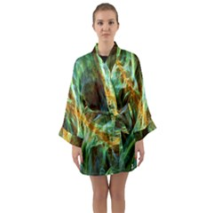 Abstract Illusion Long Sleeve Satin Kimono by Sparkle