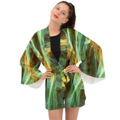 Abstract Illusion Long Sleeve Kimono by Sparkle