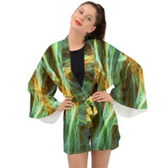 Abstract Illusion Long Sleeve Kimono by Sparkle