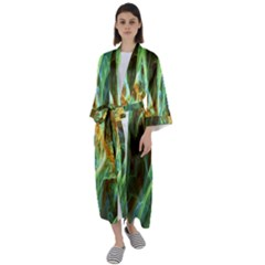 Abstract Illusion Maxi Satin Kimono by Sparkle