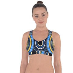 Tribal Zentangle Art Cross String Back Sports Bra by tmsartbazaar