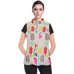 Scandinavian Foliage Fun Women s Puffer Vest by andStretch