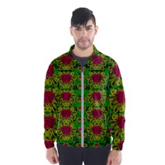 Rainbow Forest The Home Of The Metal Peacocks Men s Windbreaker by pepitasart