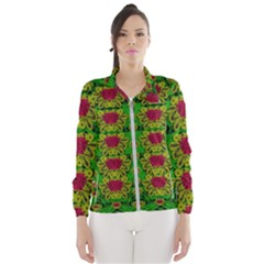 Rainbow Forest The Home Of The Metal Peacocks Women s Windbreaker by pepitasart