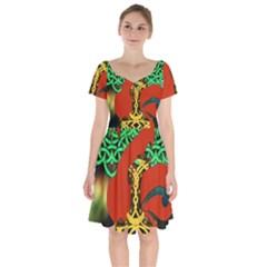 Ragnarok Dragon Monster Short Sleeve Bardot Dress