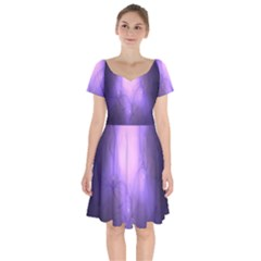 Violet Spark Short Sleeve Bardot Dress by Sparkle