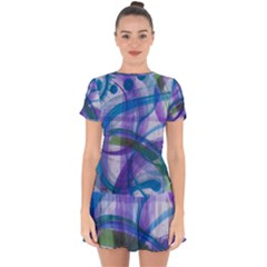 Construct Drop Hem Mini Chiffon Dress by CreativeSoul