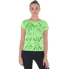 Electric Lime Short Sleeve Sports Top  by Janetaudreywilson