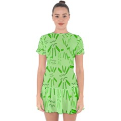 Electric Lime Drop Hem Mini Chiffon Dress by Janetaudreywilson