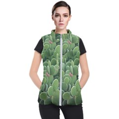 Green Cactus Women s Puffer Vest by Sparkle