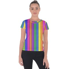 Colorful Spongestrips Short Sleeve Sports Top  by Sparkle