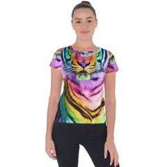 Rainbowtiger Short Sleeve Sports Top  by Sparkle