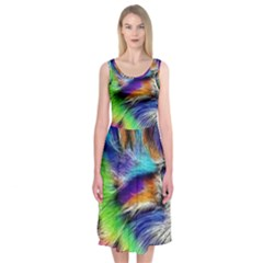 Rainbowcat Midi Sleeveless Dress