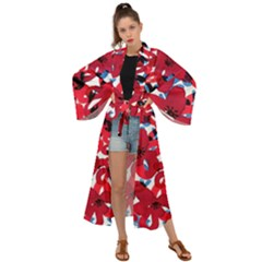 Handpaint Flowers Maxi Kimono by Sparkle
