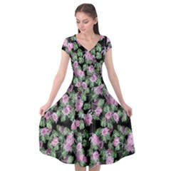 Spring Flora Cap Sleeve Wrap Front Dress by 1dsign