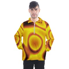 Golden Honey Men s Half Zip Pullover by Sabelacarlos