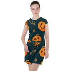 Halloween Drawstring Hooded Dress by Sobalvarro