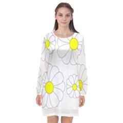 ??????? Long Sleeve Chiffon Shift Dress  by monprodu
