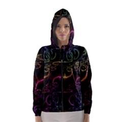 Patina Swirl Women s Hooded Windbreaker